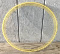 LACKNER YELLOW TRIM NEON CLOCK GLASS