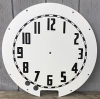 WHITE AZTEC CLEVELAND NEON CLOCK FACE
