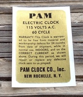 PAM CLOCK BACK CAN LABEL