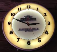 OLSDMOBILE ADVERTISING NEON CLOCK