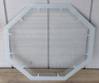 NPI GRAY OCTAGON NEON CLOCK GLASS
