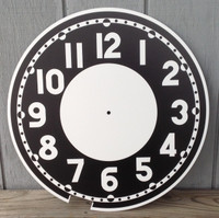 BLACK CLEVELAND BULLSEYE REPLACEMENT CLOCK FACE