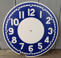 BLUE CLEVELAND BULLSEYE REPLACEMENT CLOCK FACE