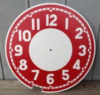 RED CLEVELAND BULLSEYE REPLACEMENT CLOCK FACE