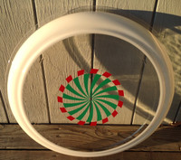 CLEVELAND NEON CLOCK GREEN RED SPINNER BUBBLE