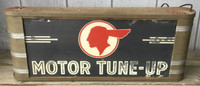 RARE PONTIAC AUTOMOBILE LIGHTED DECO SIGN