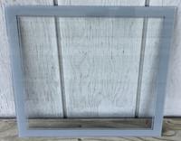 LACKNER GRAY SQUARE NEON CLOCK GLASS