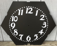 ARABIC 6 SIDED CLEVELAND NEON CLOCK FACE