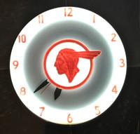 RARE ORIGINAL PONTIAC NEON ADVERTISING CLOCK