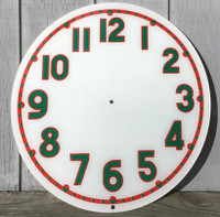 CLEVELAND RED GREEN LIGHT UP NEON CLOCK FACE