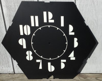 CLEVELAND DECO 6 SIDED NEON CLOCK FACE