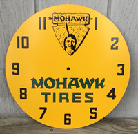MOHAWK TIRES NPI LACKNER NEON CLOCK FACE