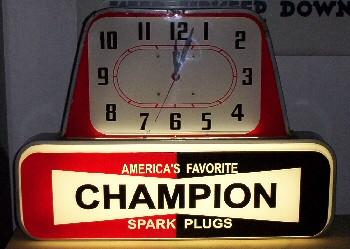 CHAMPION SPARK PLUG CLOCK - PetroRelics LLC