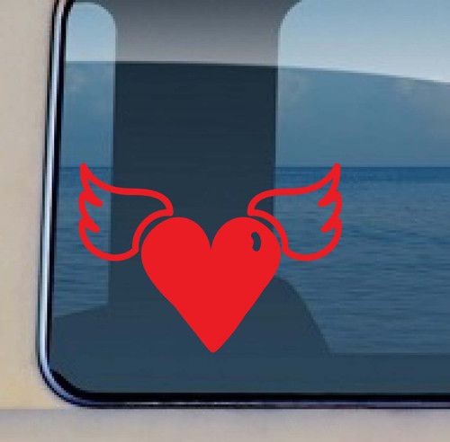 Heart Wings Decal Love Sticker 523