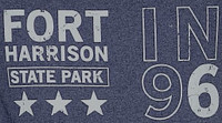 Fort Harrison State Park Retro Heathered Tee