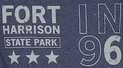 Fort Harrison State Park Retro Heathered Tee