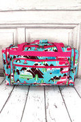 "Cute Camper 23"" Duffle Bag - Pink Trim*"