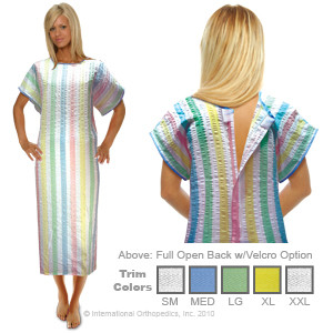 Highest Quality Patient Gowns on the Market Manufactured in the USA by International Orthopedics, Inc.
