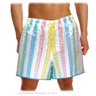 Seersucker Patient Shorts in sizes Small Medium Large Extra Large 2X Large and 3X Large