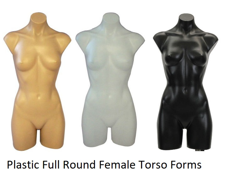 Plastic Full Round Female Torso Forms