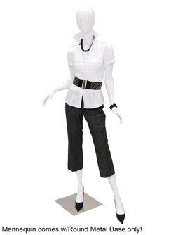 Trudy, Gloss White Abstract Female Mannequin MM-A2W1