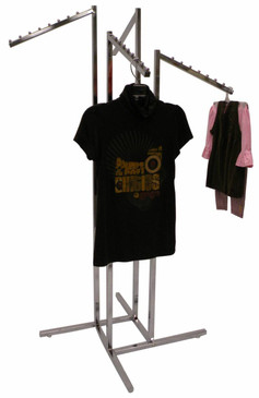 4 Way Slant Display Clothing Rack MM-RK-R15