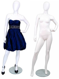 Matte White Abstract Female Mannequin MM-GF12W