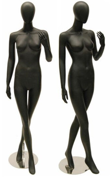 Taylor, Matte Black Abstract Egg Head Female Mannequin MM-KAT02