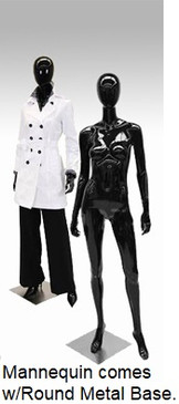 Latoya, Gloss Black Abstract Female Mannequin MM-A3BK1