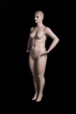 Realistic Plus Size Female Mannequin Fleshtone with Molded Hair MM-AVIS-02