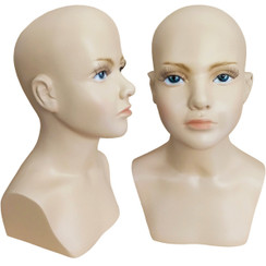 Child Mannequin Head Form with Bust MM-518