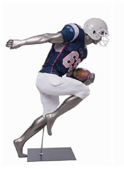 Brady, Football Player Male Mannequin Gloss Grey MM-Brady10