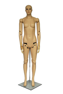 Flexible Realistic Articulated Female Mannequin Fleshtone MM-FM01s
