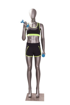 Erin 2, Matte Grey Athletic Female Sports Mannequin MM-JSW02