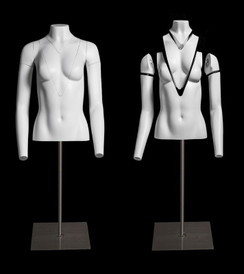 Invisible Ghost Mannequin Female Torso w/Base MM-GH1-2F