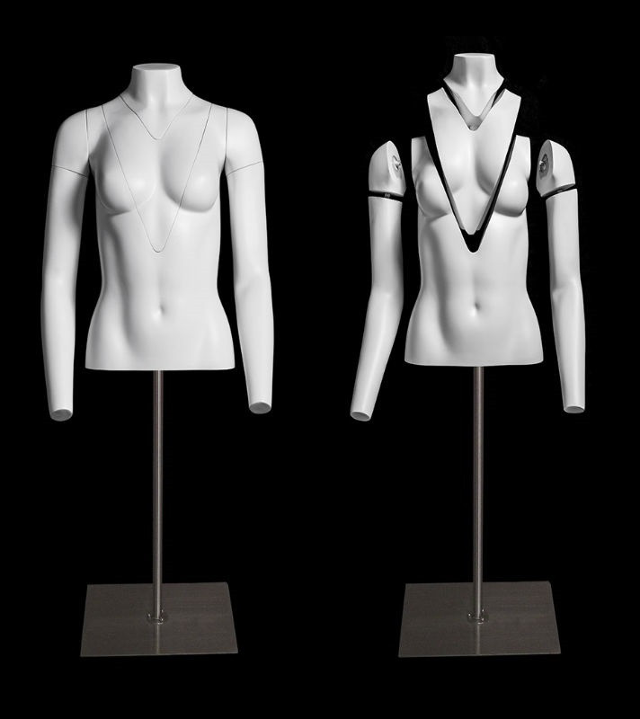 Invisible Ghost Female Mannequin 34 Body with Rolling Base #GH34F