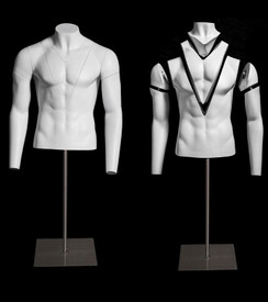 Invisible Ghost Mannequin Male Torso w/Base MM-GH1-2M