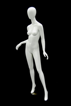 Used Gloss White Abstract Egg Head Female Mannequin MM-A2W1USED