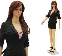 Realistic Plastic Female Mannequin Fleshtone PS-G07