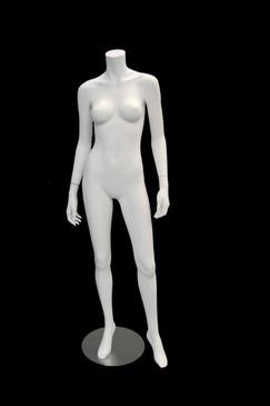 Showroom Sample Carmen 2, Fiberglass Headless Female Mannequin Matte White MM-A3BW2SR