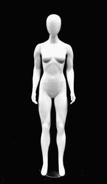 Glossy White Abstract Female Mannequin MM-GPX01W1EG
