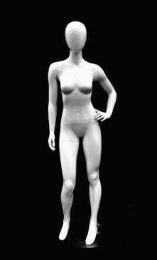 Glossy White Abstract Female Mannequin MM-GPX03W1EG