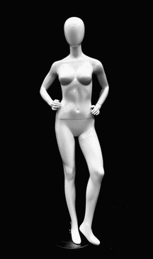 Glossy White Abstract Female Mannequin MM-GPX04W1EG
