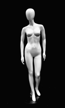 Glossy White Abstract Female Mannequin MM-GPX05W1EG