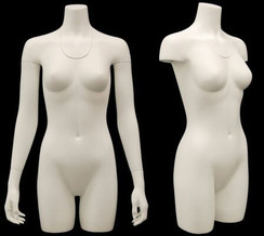 Used Matte White Ghost Female Torso with Base MM-TFW-1VUSED