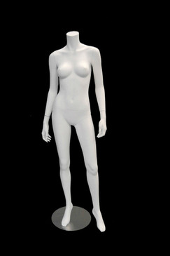 Used Carmen 2, Fiberglass Headless Female Mannequin Matte White MM-A3BW2USED