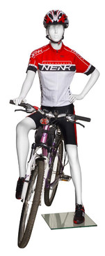 Jackie, Female Bicyclist Athletic Sports Mannequin MM-BY-F01