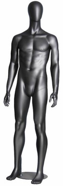 Danny, Metallic Grey Abstract Egg Head Male Mannequin MM-AE05
