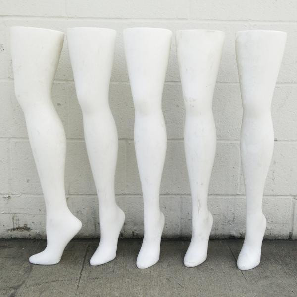 Used Plastic White Freestanding Women S Hip High Hosiery Leg Display Form