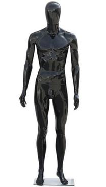 Gloss Black Plastic Male Egg Head Mannequin MM-PS-439